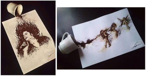 My coffee creations with Michael Jackson by jullie-jullie