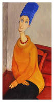 Marge in the style of Modigliani by Elena-nenz