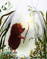 Hedgehog and fog by Elena-nenz