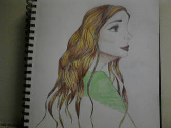 Girl with the green shirt by xXMissMexicano13Xx