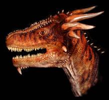 Red Dragon head stock by Rhabwar-Troll-stock