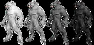 Werewolf Stock 1 by Rhabwar-Troll-stock