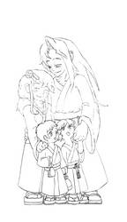 KunZoi Family portrait WIP by TatsuNoKoori