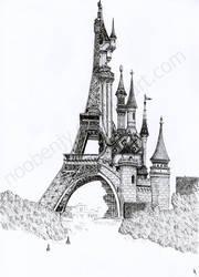 Half Paris half Disney by NooBenjy