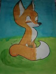 a fox  by KennasKartoons