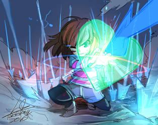 Green Heart Shield !!!! by kasempan