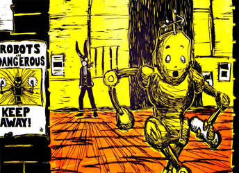 Robots Are Dangerous by jasoncosmonaut