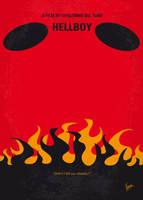 No131 My HELLBOY minimal movie poster by Chungkong