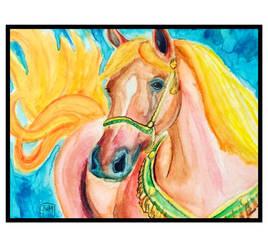 Watercolors Horse by buttmuffinzombie