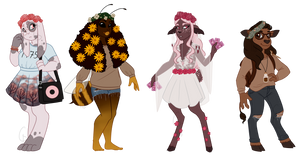 SET PRICE: Flowercrown adopts (3/4 OPEN) by Silver-Monster