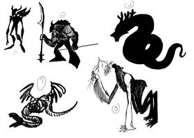 Otherkin Silhouettes by Timetower