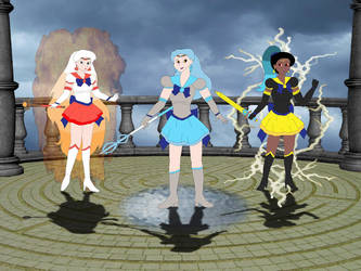 Sailor Tao Trio by DoctorEvil06