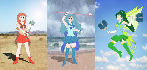 Sailor Weather Trio by DoctorEvil06