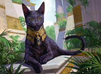Sacred Cat by Zezhou