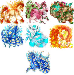 Kingdom Sky- Seasonal Spirit Pets by HarlequinLoki