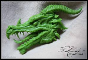 WIP Dragon head - sculpt by TatharielCreations