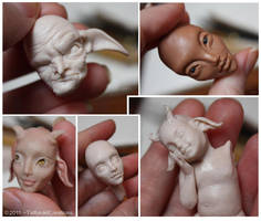 WIP Sculpture fiddling by TatharielCreations