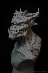 Glaukurz - Demon sculpture by TatharielCreations