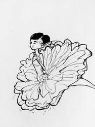 Inktober Day 24: Cornflower by MzWaffle