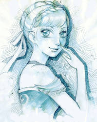 Anna princess of Aerendelle sketch by lilie-morhiril