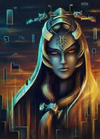 Midna Portrait by DarthiaWolf