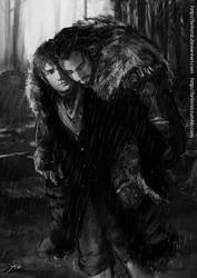 Thorin and Bilbo :last homely hole by Brilcrist