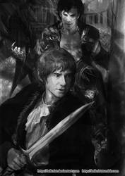 Cumbersmaug n Bilbo by Brilcrist