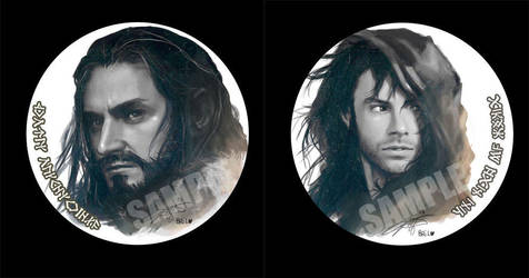 Thorin n Kili Pin button by Brilcrist