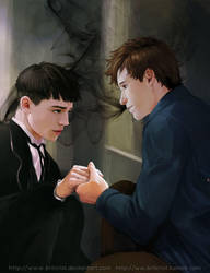 Newt n Credence by Brilcrist