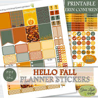 Printable Fall Planner Stickers by GreenLightIdeasGLI