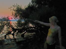 Pointing at the Sun by SeriahAzkath