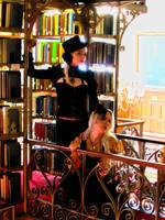 Steampunk Library Glow by SeriahAzkath