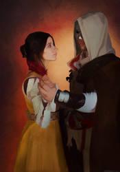Ezio and Cristina cosplay by BougainvilleaGlabra