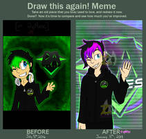 Draw This Again! Meme - DAGames fanart Edition by ZeroMiaou