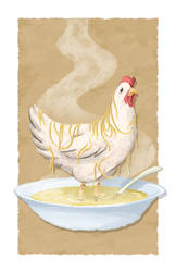 Chicken Noodle Soup by sexysexybicycle