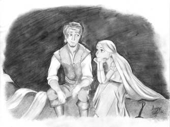 Eugene and Rapunzel by FanatikerFrau