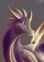 Spyro being boop'd by GamingHedgehog