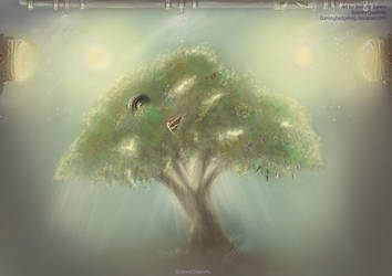 SCP Art - SCP-038 the everything tree by GamingHedgehog