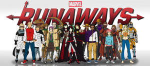 Marvel's Runaways characters by agleronmartin