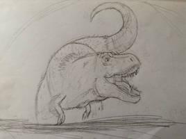 T-Rex Sketch by IllyaUmaru