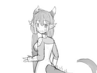So i ah tried drawing myself again today by IllyaUmaru