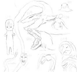 Very Very VERRYYY rough sketches by IllyaUmaru
