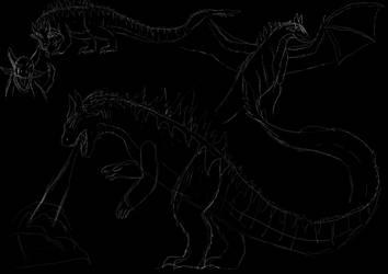 Kaiju Sketch by IllyaUmaru