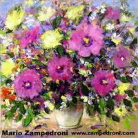 Flower Pot - acrylic on canvas by zampedroni