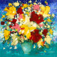 Still Life - Flower painting by zampedroni