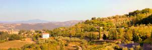 Paysage de Toscane by EugeneStanciu