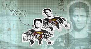 Stickers Mock-Up Man Of Steel by EugeneStanciu