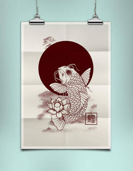 The koi carp Poster Mock-Up by EugeneStanciu
