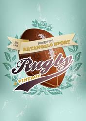 ArtAngelo Sport - Rugby Vintage by EugeneStanciu