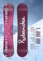 Rubandea Snowboard Mock-Up by EugeneStanciu
